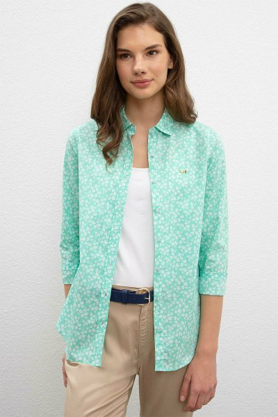 U.S.Polo Assn.  Kadın Çiçek Desenli Gömlek