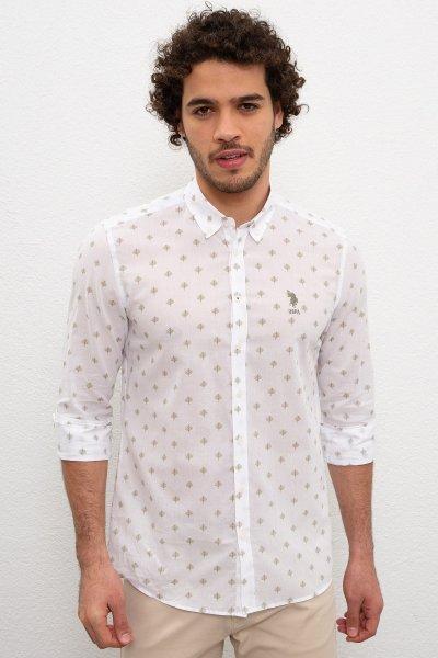 Us Polo Assn. Erkek Yaprak Dalı Desenli Gömlek