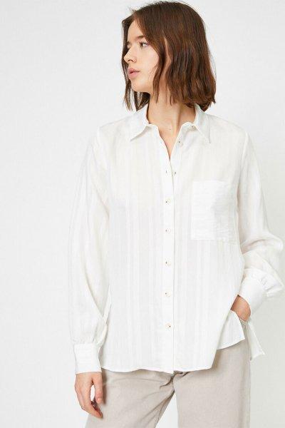 Koton Kadın Düğme Detaylı Bluz
